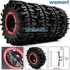 4pcs RC Inflatable Tires & 2.2 Beadlock Wheel & Air Pump Fit 1/10 RC 4WD Crawler