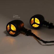Black Amber Turn Signal Lights for Suzuki Marauder VZ 800 1600 Savage LS 650