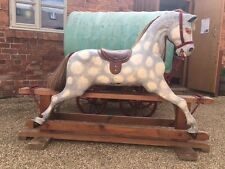 LARGE VINTAGE ROCKING HORSE IDEAL FOR CHRISTMAS PRESENT