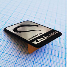 KALI LINUX Sticker Aluminium - Metallic Logo Case Badge - 37mm x 25mm