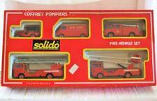 Solido 7010 - 1:43 - 1:50 FIRE ENGINE GIFT SET 5 Vehicle COFFRET POMPIERS