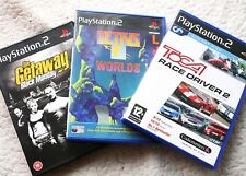 LOT of 3 PS2 Games: TETRIS Worlds, TOCA Race Driver 2 & The GETAWAY. COMPLETE!