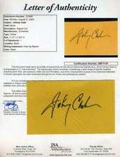 Johnny Cash JSA Coa Signed 3x5 Index Card Autograph