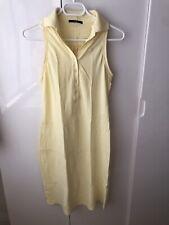 Hugo Boss Black Label Women's size XS sleeveless Cotton Polo neck Dress yellow