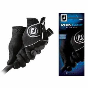 FootJoy RainGrip Black Golf Gloves One Pair 66109E - Pick Size