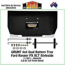 Grunt 4x4 Dual Battery Tray Ford Ranger PX XLT Styleside Diesel Ute 2011-Onwards