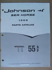 1968 OMC JOHNSON 55 HP TR TRL MODELS OUTBOARD MOTOR ENGINE PARTS CATALOG 383305
