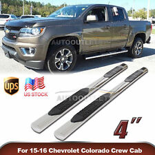 """2015-2016 GMC CANYON COLORADO CREW CAB 4"""" S/S SIDE STEP NERF BARS RUNNING BOARDS"""