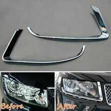 Head Light Eyebrow Cover For Compass Chrome Headlight Lamp Accessories 11-2016