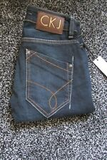 CALVIN KLEIN WOMENS JEANS W24 L33 BLUE DENIM COTTON SKINNY  NEW WITH TAGS