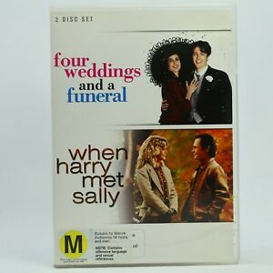 Four Weddings and A funeral / When Harry Met Sally Romance DVD GC Free Post