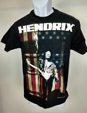 Jimi Hendrix American Flag USA Rock T-Shirt Black Sz Sm Still has Tag #57
