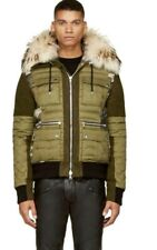 Sold Out Balmain Fur-trim Camouflage Print Quilt Jacket