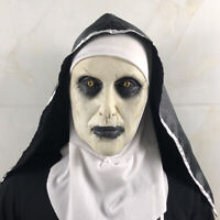Scary Latex Women Ghost Nun Mouth Mask Costume Halloween Party Prank Prop Filmy