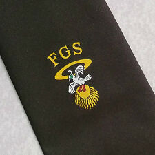 FSG vintage con cravatta marrone club associazione società Leonard Hudson 1980s 90s