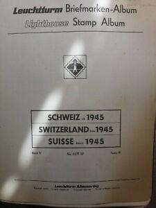 Album Leuchtturm Schweiz auf 83 Seiten alles Einzelstücke Mi. Wert 3000,00 Euro