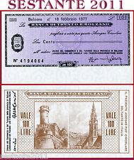 BANCA DI TRENTO E BOLZANO LIRE 100 18.2. 1977 UNIONE COMMERCIO TURISMO FDS B168
