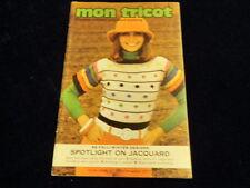 Vtg Knitting Crochet Patterns Mon Tricot Fall Winter Fashion Jacquard 1972-73 A3