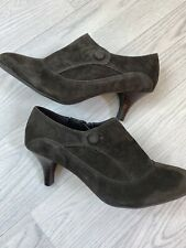 M&S Footglove Wider Fit Mocha Suede Shoe Boots Size 6.5 RRP £45