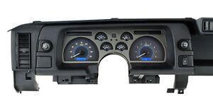 1990-92 Chevrolet Camaro Dakota Digital Carbon Fiber & Blue VHX Analog Gauge Kit