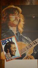 Magazine BEST n° 49  -  aout  1972  couv chuck berry avec poster  clapton g dead