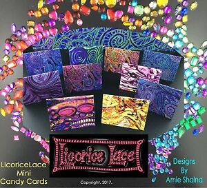 Rainbow Candy Card Gift Tag Set, Fairy Cards, Present Decoration, labels