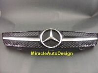 BLACK FRONT GRILL SET FOR 2005-2008 MERCEDES BENZ W219 CLS-CLASS (Sedan & Coupe)