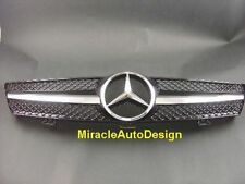BLACK FRONT GRILL FOR 2005-2008 MERCEDES W219 CLS Sedan/Coupe (STAR NOT INCLUDED