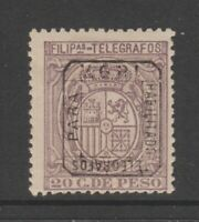 Spain Philippines revenue fiscal stamp 4-15 UNLISTED? inverted OP Telegraph