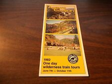 JUNE 1982 ALGOMA CENTRAL RAILWAY WILDERNESS TRAIN TOURS TIMETABLE