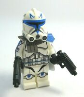 Lego CAPTAIN REX Minifigure -Helmet, DC-17 pistols -Custom Printed Body! NEW