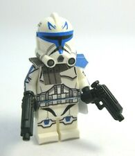 Lego CAPTAIN REX Minifigure -Helmet, DC-17 pistols -Custom Printed Body! NEW