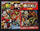 WEREWOLF BY NIGHT # 1 # 3 # 6 - Marvel Comics Bronze Age Key (RE)