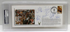 1994 ROCKETS NBA CHAMPIONS TEAM w/ OLAJUWON  SIGNED FDC CACHET PSA/DNA #83289186