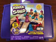 Kinetic Sand 3lbs of Blue Pink And Natural With Storage Box Toy Molds Brand New