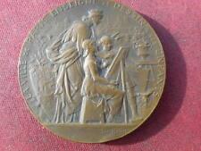 """médaille de bronze """"la ville de Paris enseigne le dessin"""" 1903  louis  Bottée"""