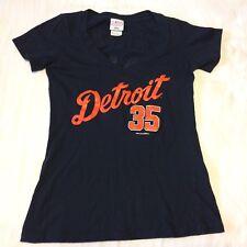 Detroit Tigers Justin Verlander Womens Jersey T Shirt Navy Size M VGUC