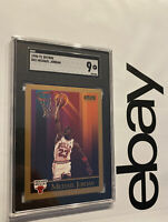 Michael Jordan SGC 9 MINT Skybox 1990 Last Dance Card Collector Chicago Bulls NR