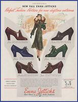 Vintage 1937 ENNA JETTICKS Women's Shoes Petite Paula Nadine Janet 30's Print Ad
