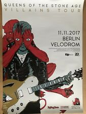 Queens of the Stone Age 2017 Berlino + ORIG. CONCERT POSTER MANIFESTO a1 NUOVO