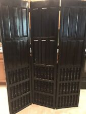 Beautiful 3 Panel Heavy Wooden Room Divider