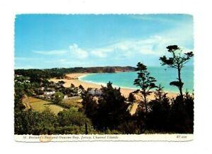 Channel Islands - Jersey, St. Brelade's Bay & Ouaisne Bay- Postcard Franked 1976