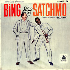 """Bing Crosby Louis Armstrong Bing and Satchmo 1960 UK mono MGM 12"""" 33rpm LP (f)"""