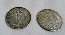 (2) 1968 Mexico Olympics Silver 25 Peso - Beautiful Coins