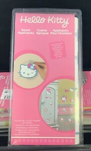 NEW Hello Kitty Room Appliques 30+ Precut Reusable Wall Furniture Stickers