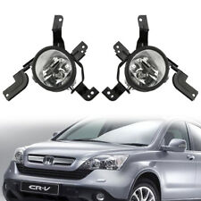 For 07-09 Honda CRV CR-V Bumper Fog Lights Lamp Clear 2007-2009 Aftermarket