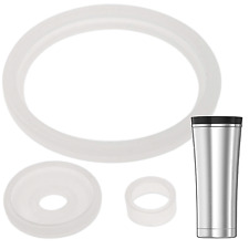 2 Sets of Thermos Sipp TM -Compatible 16 Ounce Travel Tumbler/Mug Gaskets/Seals