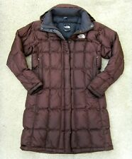 The North Face Metropolis hooded 600 Goose Down Coat Women's Sz Small Brown