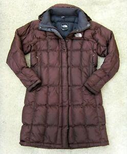 The North Face Metropolis Parka 600 Goose Down Long Coat Women's Sz Small Brown