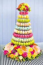 10-TIER ROUND FRENCH MACARON TOWER STAND, FOOD-SAFE, THICK 0.7MM APET PLASTIC!